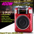 100W Mini Altavoz Portable Radio FM MP3 Player Speaker Megaphone Loudspeaker With Microphone Voice Amplifier For