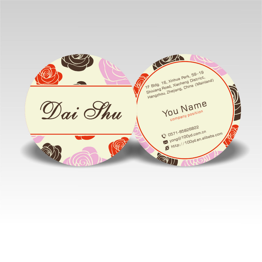 Fashion Designer Customized Round Business Cards Color