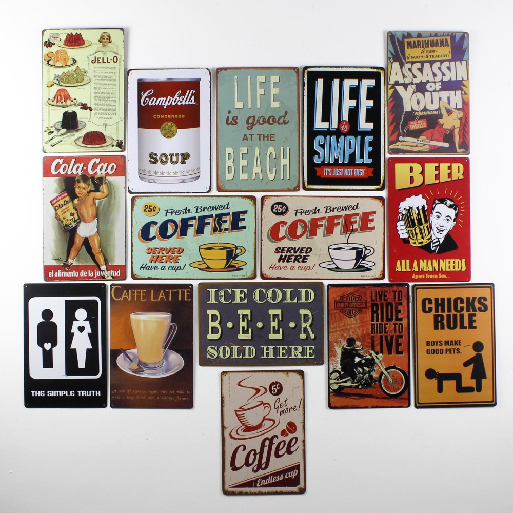 Decor metal signs   home decore inspiration
