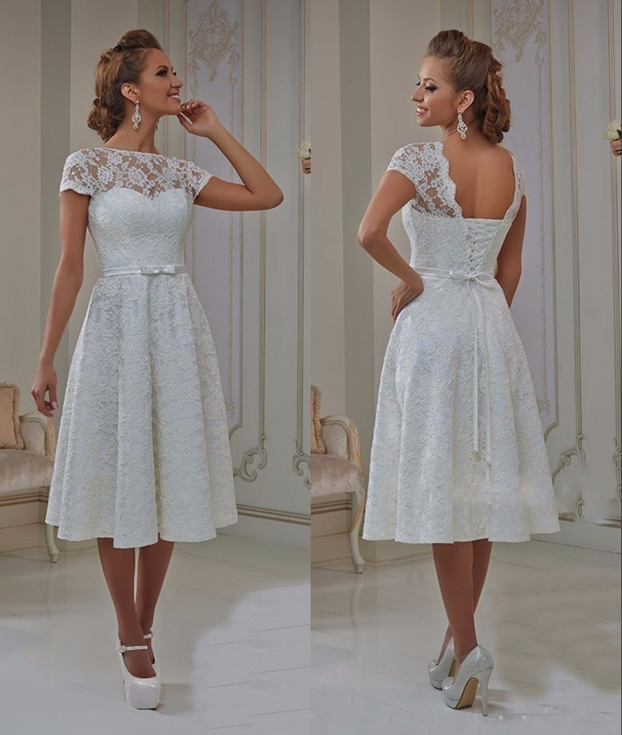 Aliexpress: Short Casual Wedding Dresses With Sleeves At Websimilar.org
