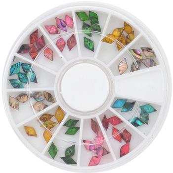 1 Wheel NEW 60pcs Japan Styles 4x7mm Rhombus Shape Shell Stone For DIY Nails Art Accessory Fashion Decorations Beauty Tools