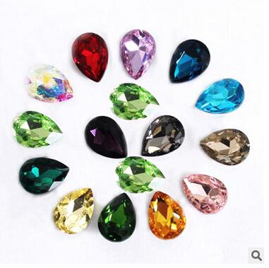 18*25mm Glass Drop-type crystal diamond 3d resin 10 pieces,DIY handmade materials,wedding gift wrap,10Y47351(China (Mainland))