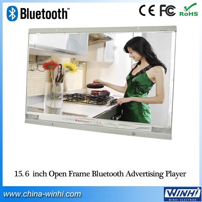 15 inch 1080P store shelf 16:9 Full HD digital advertising Display vertical wall mounted tv monitor with memory card usb slot(China (Mainland))