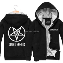 dimmu borgir Rock  and cashmere  male youth popular men's winter models plus thick velvet (China (Mainland))