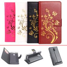 Buy High Lenovo K4 Note Case Wallet Slot Flip Leather Case Phone Cover Golden Flowers Lenovo K4 Note Cover for $5.84 in AliExpress store