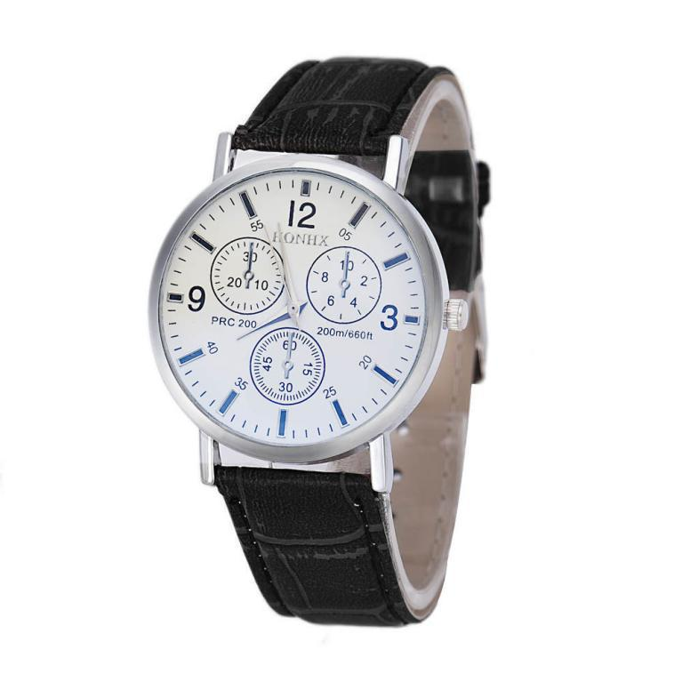 JECKSION mens watches for sale online Faux Leather Analog high-end Business Wrist Watch montre homme #4(China (Mainland))