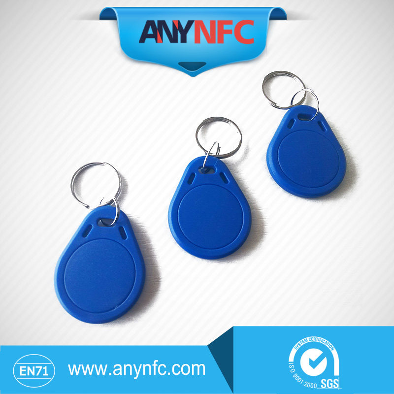 New 50Pcs/lot RFID For IC  Keyfobs Token NFC TAG Keychain 13.56MHz For Android*Blue Color*<br><br>Aliexpress