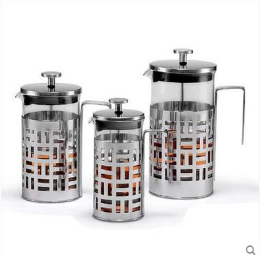 Stainless steel teapot French Press pot filter pressure pot tea coffee pot(China (Mainland))