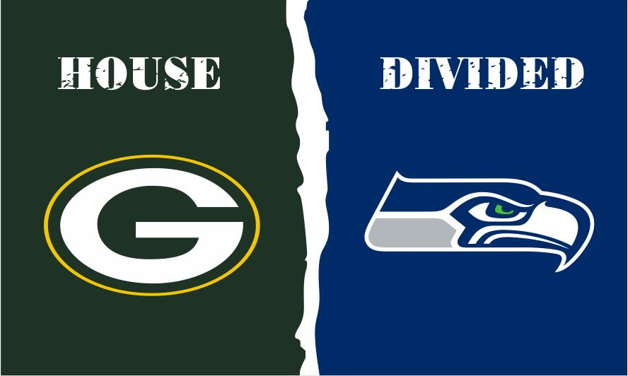 Green Bay Packers vs Philadelphia Eagles House Divided Rivalry Flag 3*5FT Two Metal Grommet White Sleeve(China (Mainland))