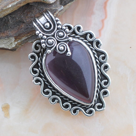 2016 Direct Selling Kolye Collares Stone Chrysocolla Charming Charms 925 Sterling Retro European Style Necklace Pendant P-369 - CN gemstone jewelry CO,.LTD store