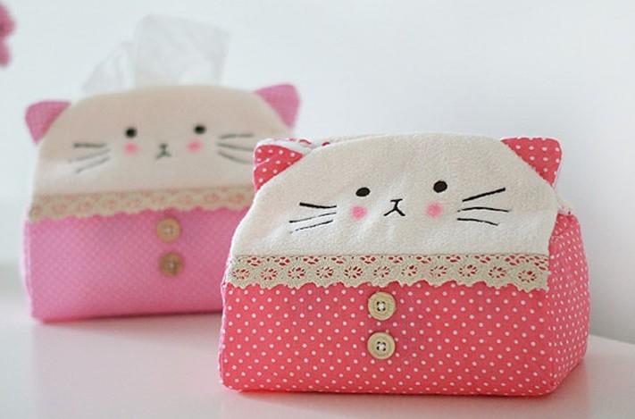Sweet Kitty CAT Tissue BOX ; 16*11*19CM Tissue Case Box Towel Napkin Paper Pumping BOX Holder Case BOX Tissue Pouch Holder Case(China (Mainland))