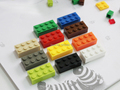 100PCS Lot Kids DIY Toys 2 4 Plastic Building Blocks To Assemble Educational Learning Girls Boys