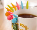 HOT SALE 6 PCS Cute Snail Shape Silicone Tea Bag Holder Cup Mug Candy Colors Gift