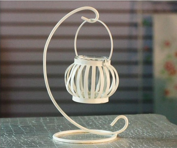 Free shipping European style pastoralism metal craft Weddings lantern metal pumpkin Candle Holder stand home and shop decoration