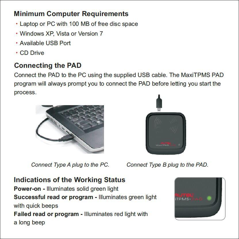 Autel MaxiTPMS PAD TPMS Sensor Programming Accessory Device (3)