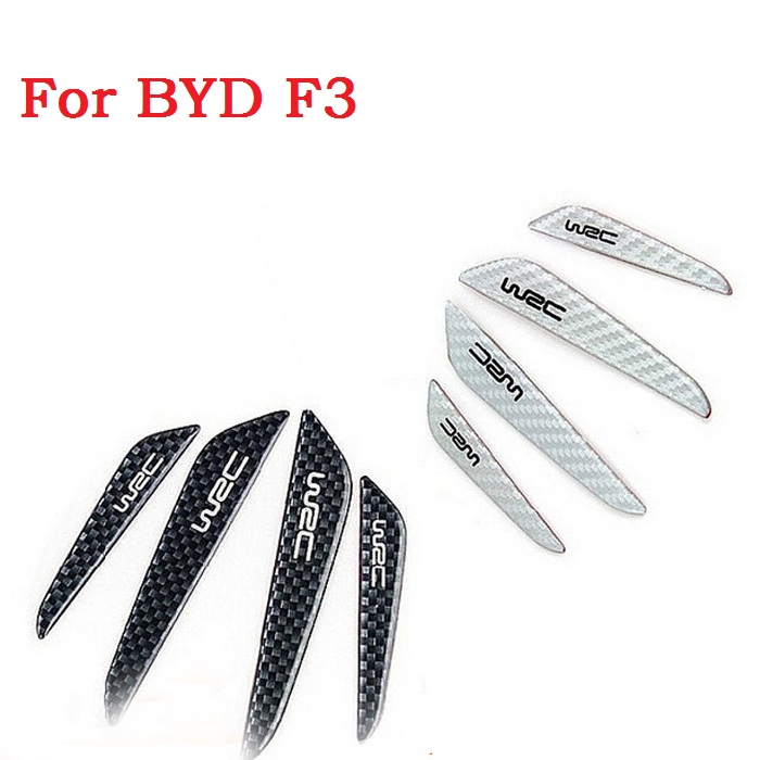 Car Door Protector Fiber Door Side Edge Protection Guards Trims Stickers Carbon Fiber for BYD F3