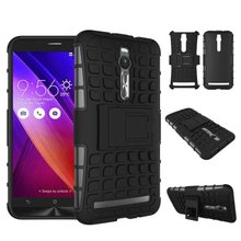 For Asus Zenfone 2 ZE550ML ZE551ML Case Hybrid Kickstand Rugged Rubber Armor Hard PC+TPU 2 In 1 Stand Function Cover Cases