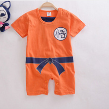 New Baby Clothing For Boys Newborn To Boys Goku/ Superman/ Batman Romper Jumpsuit Set Clothes For For 3-24 Month Babies Newborn