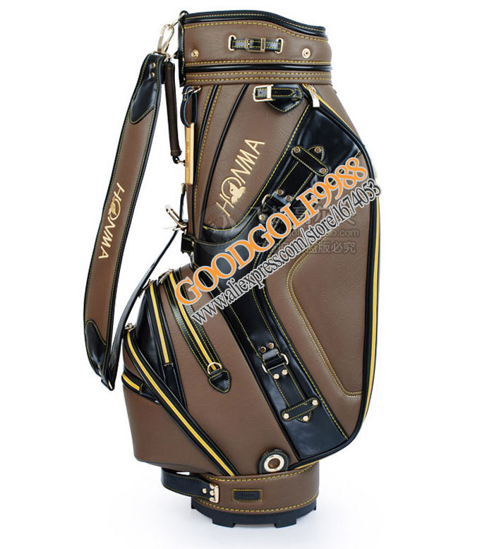 Hot sale New mens Golf bag PU golf staff bag 9.5 inch 2 Colors Golf equipment With golf covers Free shipping(China (Mainland))