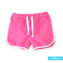SheeCute dzieci odzież nowy cukierki kolor dziewczyny krótkie gorące letnie chłopców spodnie plażowe szorty 0902(China)