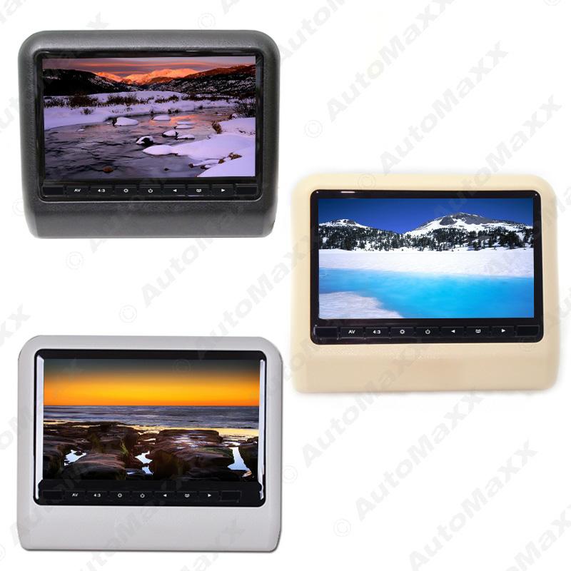 9 Inch (16:9 )Car Headrest Monitors Digital LCD AV HD Monitor Remote Control 3-Color #J-3857 - AUTO MAXX store