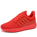Mens Air Mesh Casual Shoes Fashion Chaussure Femme Comfortable Breathable Superstar Shoes Trainers Zapatillas Hombre Red