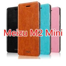 Meizu M2 Mini Leather Case Original Mofi Classical Flip Phone Cover + Registered Mail + (China (Mainland))