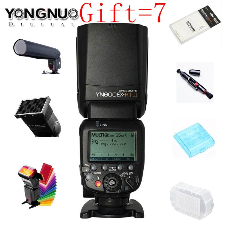 Original YONGNUO YN600EX-RT II 2.4G Wireless HSS 1/8000s Master TTL Flash Speedlite Canon Camera 600EX-RT YN600EX RT II