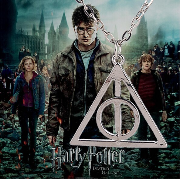 New Trendy 5pcs/lot Metal Harry Potter Pingente 3 Colors Unisex The Dead Hallow Necklace Top Fashion Wholesale Triangle Pendants(China (Mainland))