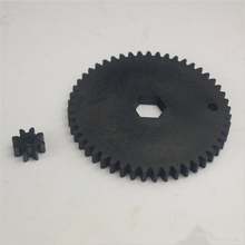 Ultimaker original 3D printer extruder parts plastic nylon Injection molding feeder small gear +feeder big gear black wheel kit