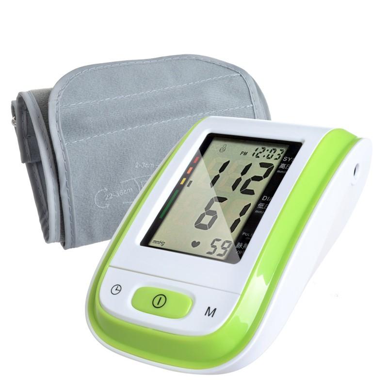 Green Arm Blood Pressure 2016 New ABS Material digital sphygmomanometer tonometer health monitors Free Shipping(China (Mainland))