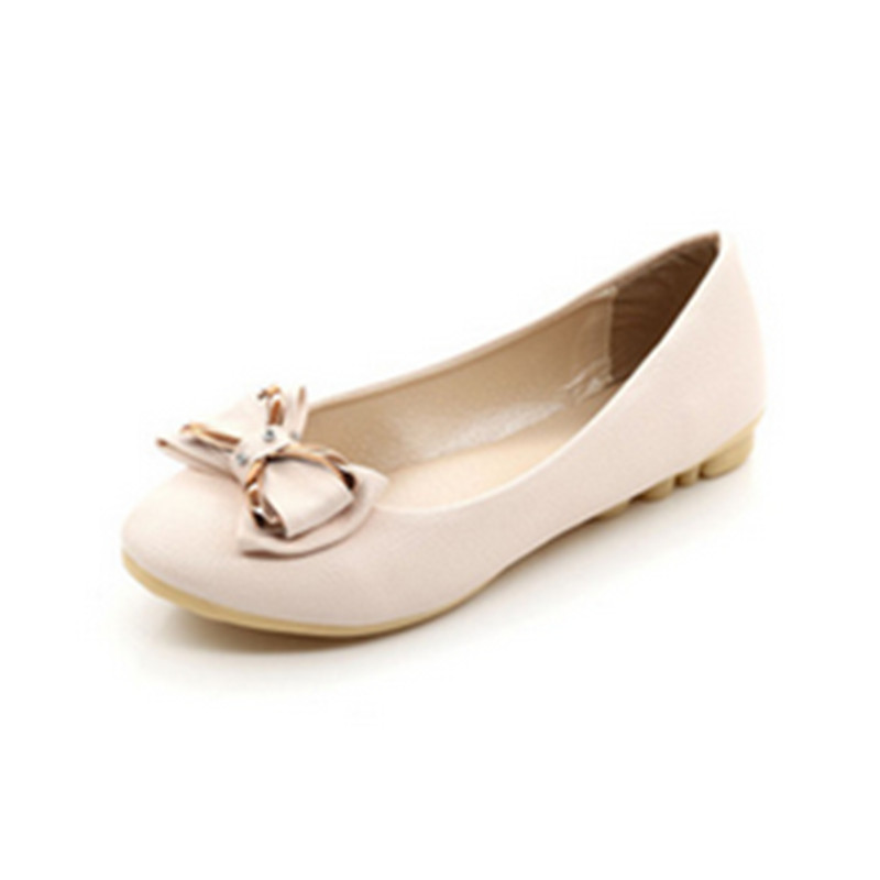 European and American fashion and comfortable Is a round head flat shoes women's leisure shoes big yards of shoes(China (Mainland))