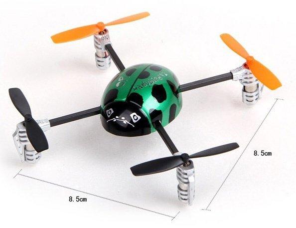 2 4G 3D Walkera Mini 4CH UFO RC QR Ladybird V2 Quadcopter Heli BNF No Transmitter