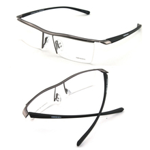 2015 New p8189 eyeglasses titanium tr90 mirror myopia glasses sports eyewear half optical frames male oculos de sol