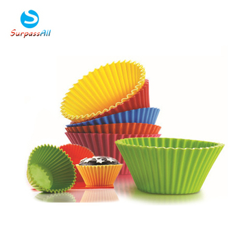 Free Shipping 12PCS/SET Round Silicone Muffin Cake Cupcake Cup Cake Mould Case Bakeware Maker Mold Tray Baking Alibaba Express