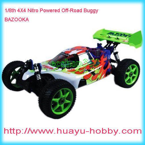 HSP #94081 -1/8th 4WD Nitro Powered Off-Road Buggy BAZOOKA 21cxp Nitro Buggy Remote Control fuel engine truck brand new(China (Mainland))