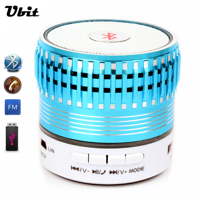 Ubit 2016 Portable Mini Bluetooth Speakers LED Light Wireless Smart Hands Free Speaker With FM Radio Support TF Card For iPhone(China (Mainland))