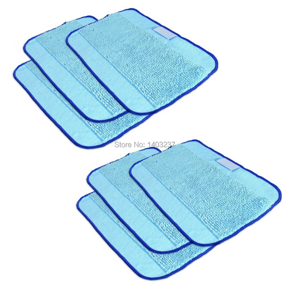 6-Pack Microfiber Cleaning Cloths,Pro-Clean Mopping Cloths for Braava Floor Mopping Robot 380 380T 320 Mint 4200 4205 5200 5200C(China (Mainland))