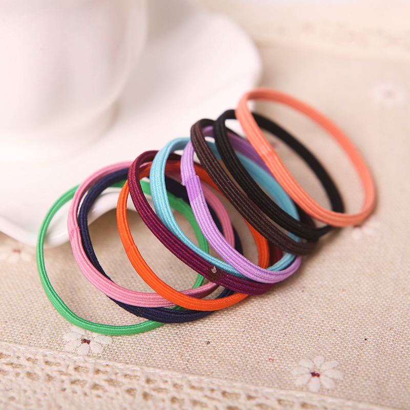 10pcs Fantastic Baby Girl Children Elastic Hair Band Accessory Black Plus Velvet Hair Rope Headband Mix Candy Color TS0083(China (Mainland))