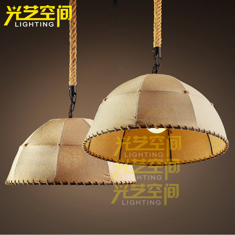 For american style pendant light decoration pendant light preparation of handmade hemp pendant light(China (Mainland))