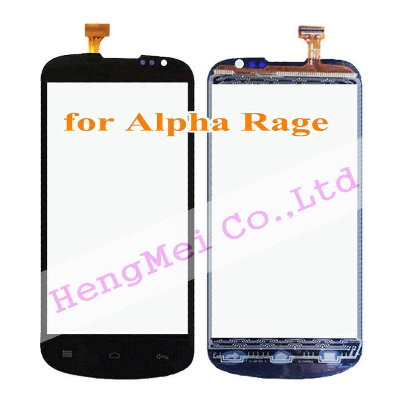 4.5 inch Black Touch Panel Highscreen Alpha Rage Screen Digitizer External Glass Lens LCD Repair Parts Free Post+Tools - HengMei Technology Co.,Ltd store