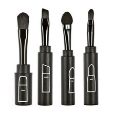 2015 New 4 in 1 professional makeup brushes set shadow brush lip brush angled brow brush smudger