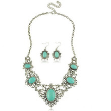 Fashion Synthetic Turquoise Necklace For Women, Hot New Products For 2016(China (Mainland))