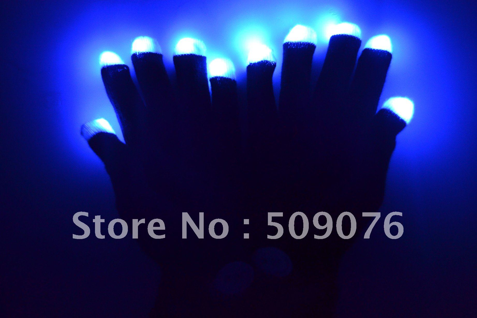 Free shipping 100pcs(50pairs)7 Modes color changing led glove rave light led finger light gloves light up glove for party favor(China (Mainland))