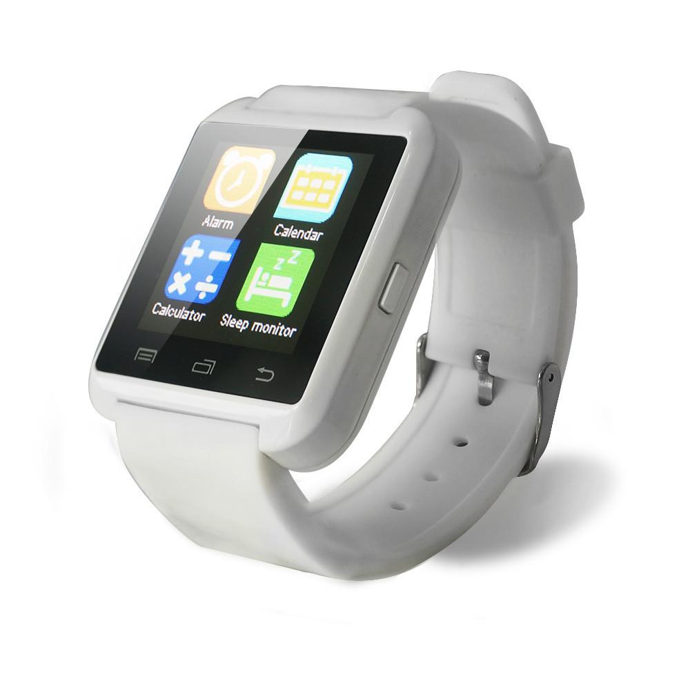 ถูก บลูทูธสมาร์ทนาฬิกานาฬิกาข้อมือU8สำหรับS Amsung LG HTCหัวเว่ยโทรศัพท์A Ndroidมาร์ทโฟนสนับสนุนข้อความ2015ขายร้อน