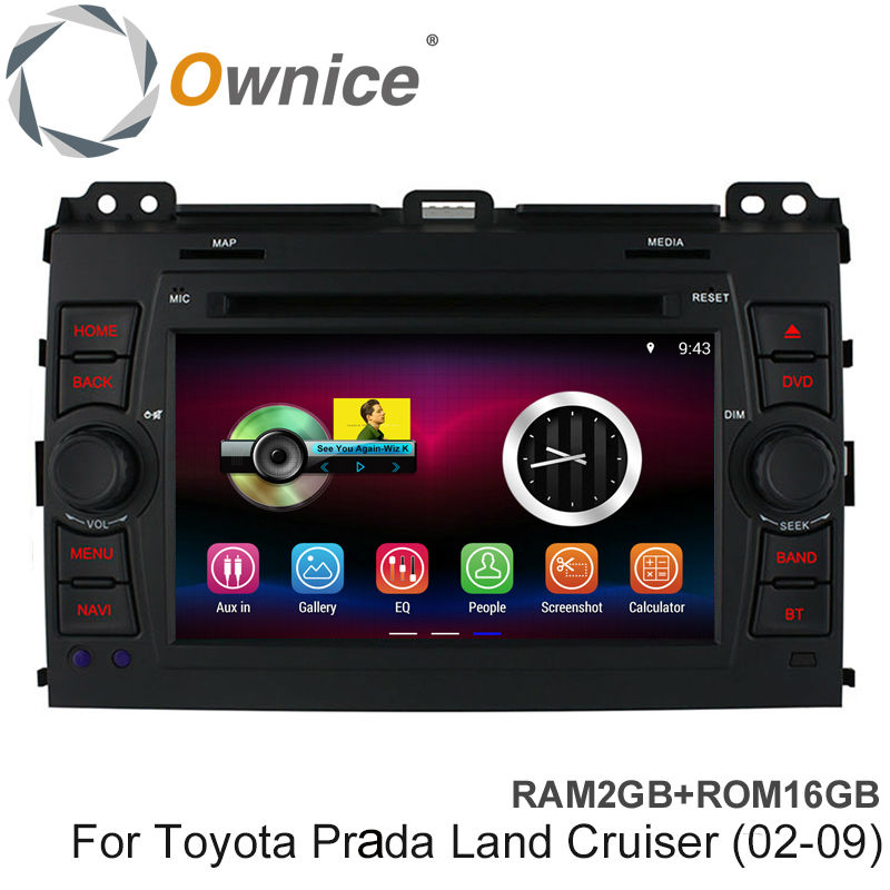 Ownice 2GB RAM Quad Core Android 4.4 Car DVD Player Fit TOYOTA PRADO Land Cruiser 2002-2009 Support GPS 3G Radio BT RDS IPOD(China (Mainland))