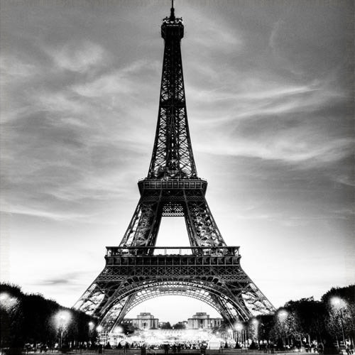 3d hallway mural wallpaper eiffel tower europe wall paper for Eiffel tower wall mural black and white