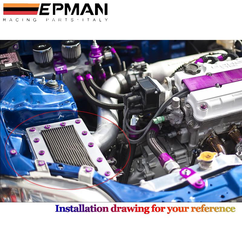 EPMAN 8PCS Neo Chrome Epman CNC billet Aluminum Fender Bumper Washer Bolt Engine Dress Up KIT