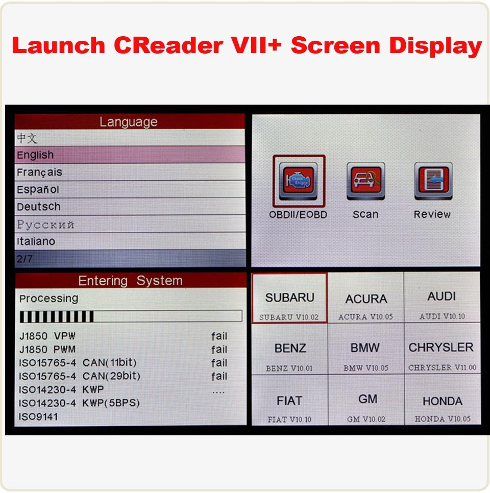 Original Launch X431 Creader Viii Crp129 Obd2 Code Reader
