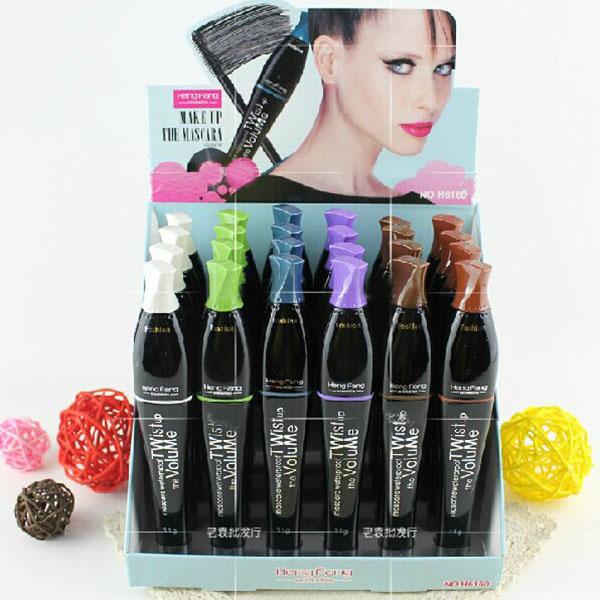 Multi-Color Cosmetic Long Fiber Curl Mascara Eyelash Extension Grower Makeup(China (Mainland))